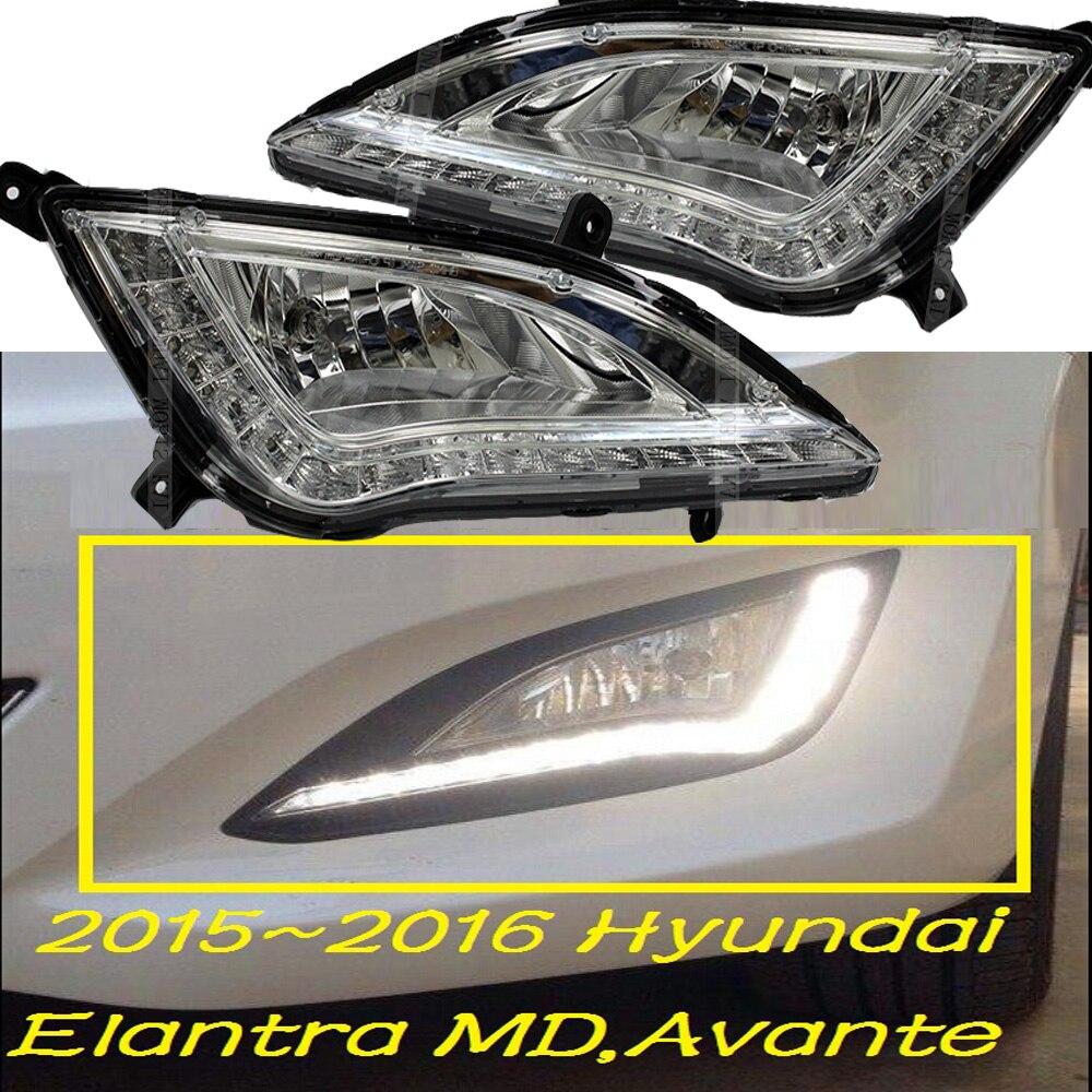 Car-styling,Elantra daytime light,MD Avante;2015~2017,chrome,LED,Free ship!2pcs,car-detector,Elantra fog light,car-covers,MD hyundai avante md напрямую из кореи