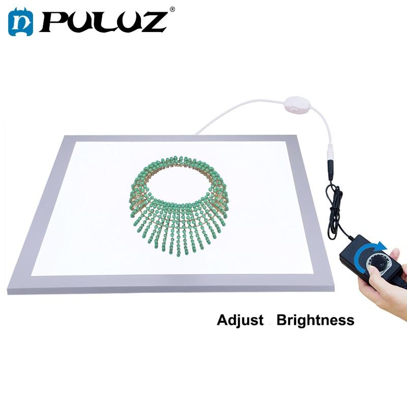 PULUZ 1200LM 15/15in/38x38 cm LED Photographie Sans Ombre Fond Lumière Lampe Panneau Dimmable pour 40 cm Photo Studio de Tournage Tente Boîte