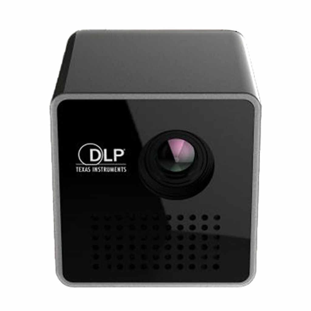 Nowy gorący DLP P1 + H Mini projektor na WiFi przenośny projektor wideo Multimedia Home biznes mini kamera Drop wysyłka
