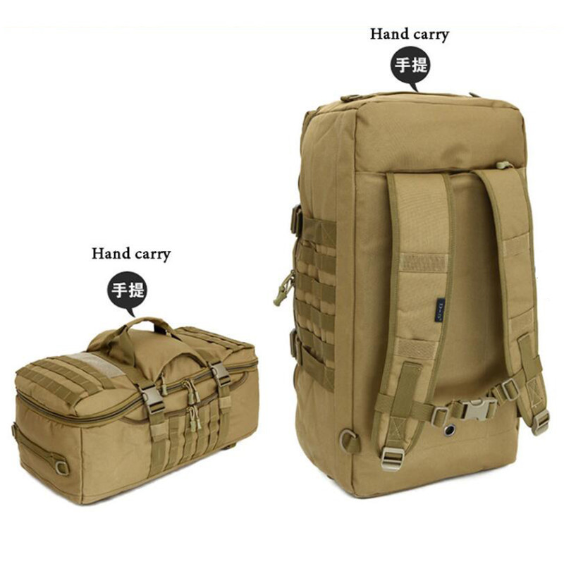 Mens bags military nylon travel backpack high quality multi-function 50 litres 17 inch computer aircraft best backpack female