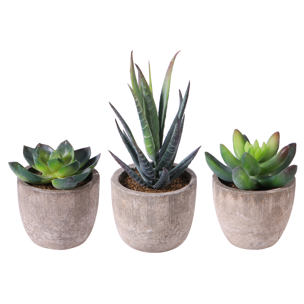 Home Artificial Succulent Plants Fake Artificial Bonsai with Pots Decorative Ball Plants Artificial Flower Mini Plants decor 1