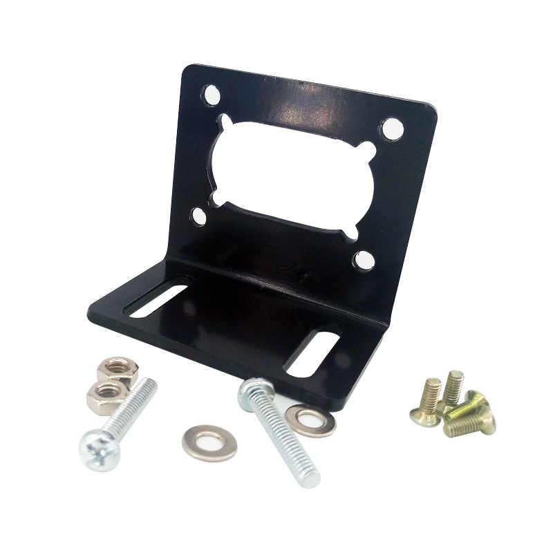 JGY370 Worm motor bracket L Shaped Mounting Metal base Holder for worm gear motor with screw
