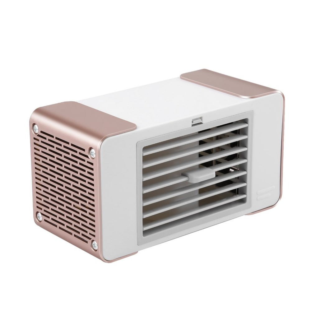 цена на Mini Compact Personal USB Air Conditioner Air Cooler Fan Home Office Desk Air Cooling Bladeless Fan With Moist Humidifier
