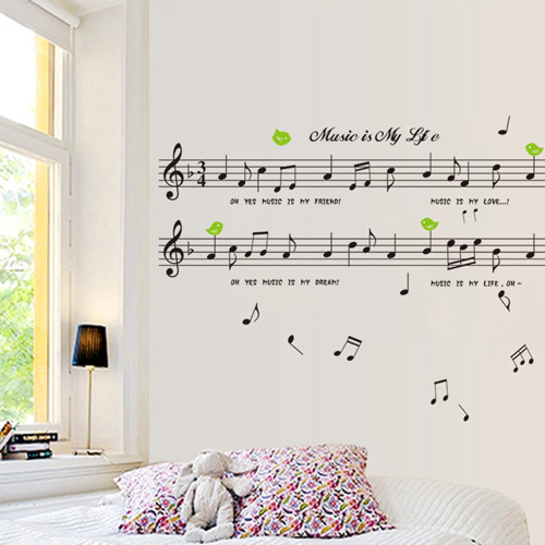 Living Room Furniture Decorative Background Music Notes Dance Training Arranged Classroom Wall Stickers Creative Staves In From Home Garden