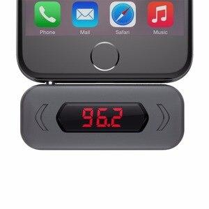 Image 4 - FM verici Doosl eller serbest arama kablosuz ses radyo verici adaptörü 3.5mm Jack iPhone IOS Android araba hoparlör