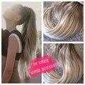 Hot queen ombre tape na extensão do cabelo 7a fita no cabelo brasileiro em linha reta 40 peças 100g cabelo trama da pele extensões