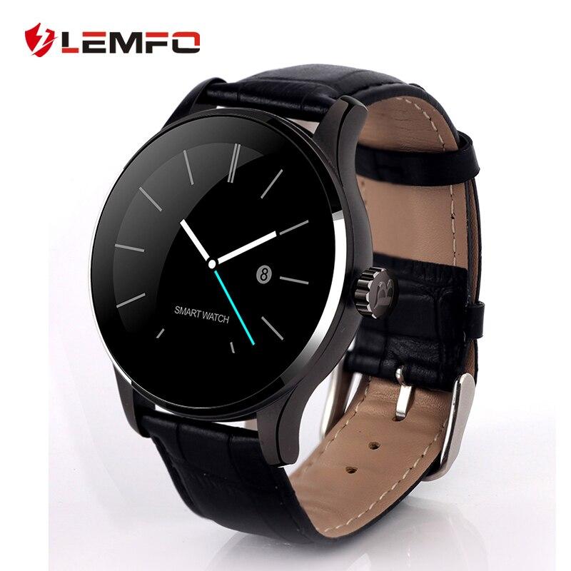 imágenes para LEMFO K88H MTK2502 Bluetooth Heart Rate Monitor Podómetro Reloj Inteligente para IOS Android Teléfono