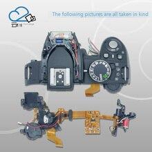 D3100 tampa superior com seletor de modo, poder interruptor de botão do obturador, unidade flash, flex cabo para Nikon