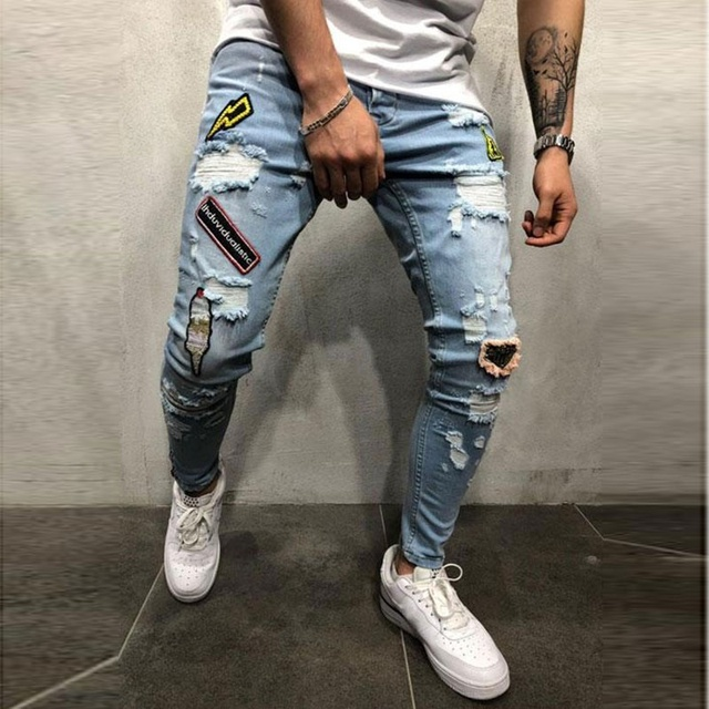 Jeans Homme Vintage bleu 3