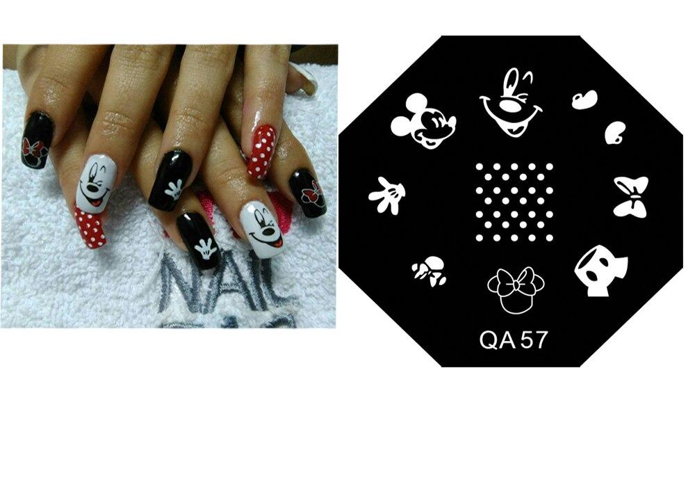 QA57 Venda Quente! !! Carimbar placas manicure DIY nail art linda Rato Dos Desenhos Animados bonito do amor dos desenhos animados stamp placa decore as unhas, # TRYTty