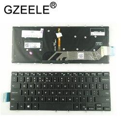 GZEELE nowość angielski podświetlenie do laptopa klawiatura do DELL Inspiron 14 Gaming 7466 7467 14-7000 14-7466 7460 Notebook podświetlenie czarny
