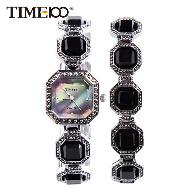 d1750ea91cc0 TIME100 Fashion Retro Women s Quartz Watches Rhinestone Polygon Shell Dial  Bracelet Watches Ladies Dress Watch relojes
