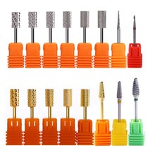 Tungsten Carbide Milling Cutter Nail Drill Bit Nail Art Tool For Electric Manicure Gold Silver Gel Buang 16 Patterns Accessory