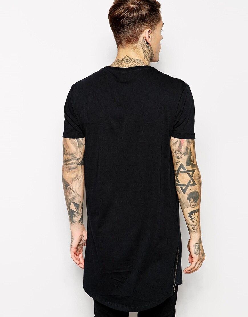 MRMT Mens long t shirt Streetwear Hip Hop Black t shirt 2018 ...
