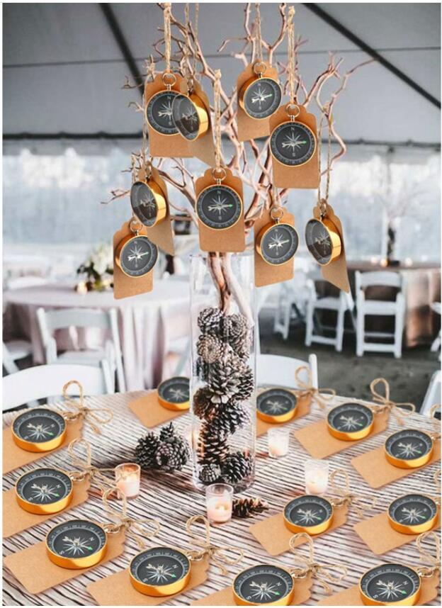 200 set Feestartikelen voor Kinderen Verjaardag Kompas Gift + Kraftpapier Tags Reizen Thema Huwelijksgeschenken Bruiloft Decoratie-in Feest bedankjes van Huis & Tuin op  Groep 1