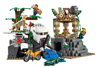 WAZ Compatible Legoe City 60161 Lepin 2017 02061 870pcs Jungle Exploration Site Figure Building Blocks Bricks