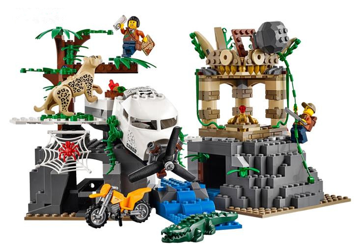 WAZ Compatible Legoe City 60161 Lepin 2017 02061 870pcs Jungle Exploration Site Figure building blocks Bricks toys for children decool 3117 city creator 3 in 1 vacation getaways model building blocks enlighten diy figure toys for children compatible legoe