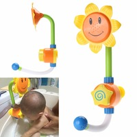 Baby Bath Toys Children Sunflower Shower Faucet Bath Learning Toy Gift FCI