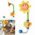 Crianças dos miúdos do bebê girassol brinquedo de banho torneira do chuveiro banho de água play aprendizagem toy presente pacote de varejo