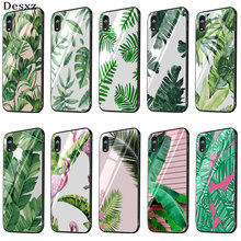 Desxz Tropical Plants Cactus Banana Leaves Fun Dynamic Glass Case Phone For Huawei Honor P20 10 Lite Pro Y6 Y9 7A 8X Cover(China)