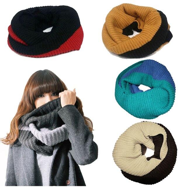 Las nuevas mujeres calientes del invierno punto anillo bufanda ...