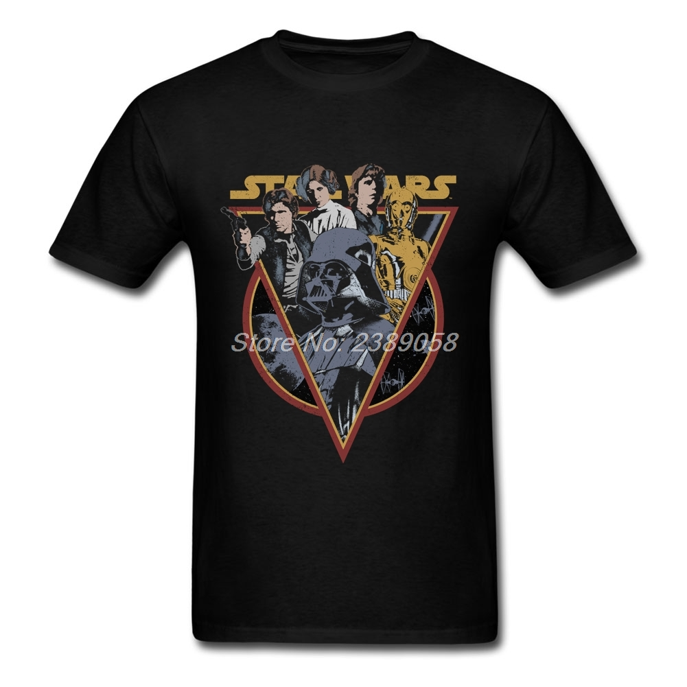 Normal Men T Shirts Unique Short Sleeve Star Wars T Shirt
