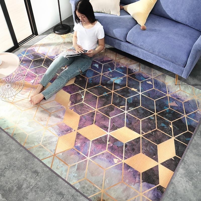 Géométrie moderne grande taille tapis pour salon chambre tapis Style nordique maison tapis salon décor tapete tapis de haute qualité