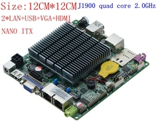 цена на Nano itx motherboard fanless mini pc motherboard 12V J1900 CPU USB3.0