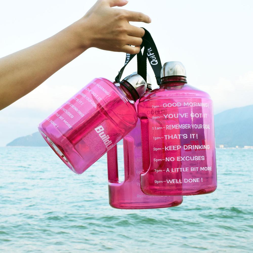 Image 4 - Quifit 128oz 73oz 43oz 1 Gallon BPA Free Plastic Big Drink Water Bottle Jug Gourd For Travel Sports Fitness GYM Waterbottle EcoWater Bottles   -