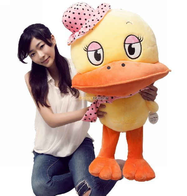 Fancytrader 31'' / 80cm Lovely Giant Stuffed Soft Plush Big Mouth Duck Toy, Nice Gift For Babies, Free Shipping FT50396 fancytrader new style fashion banana toy 31 80cm big plush stuffed cute banana birthday gift kids gift free shipping ft90528