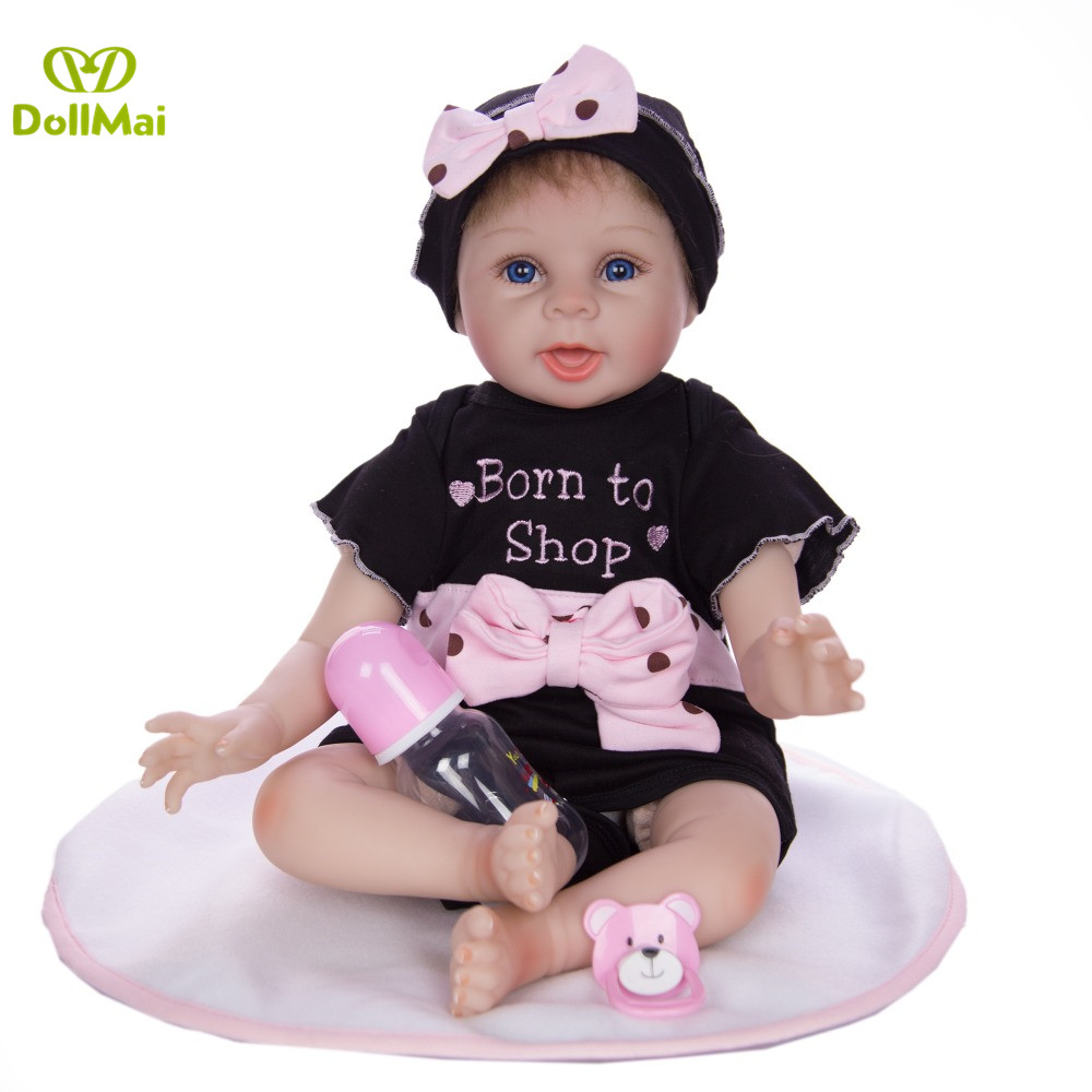 "22/"" bebe Reborn Baby Girl Dolls Silicone Vinyl Lifelike Toys kid Gift Cute Hot"
