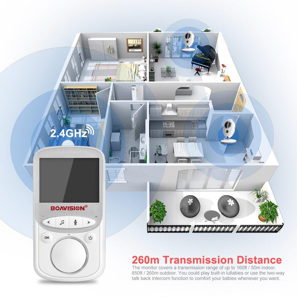 Sans fil LCD Audio vidéo bébé moniteur VB605 Radio nounou musique interphone IR 24h Portable bébé caméra bébé talkie-walkie Babysitter - 5