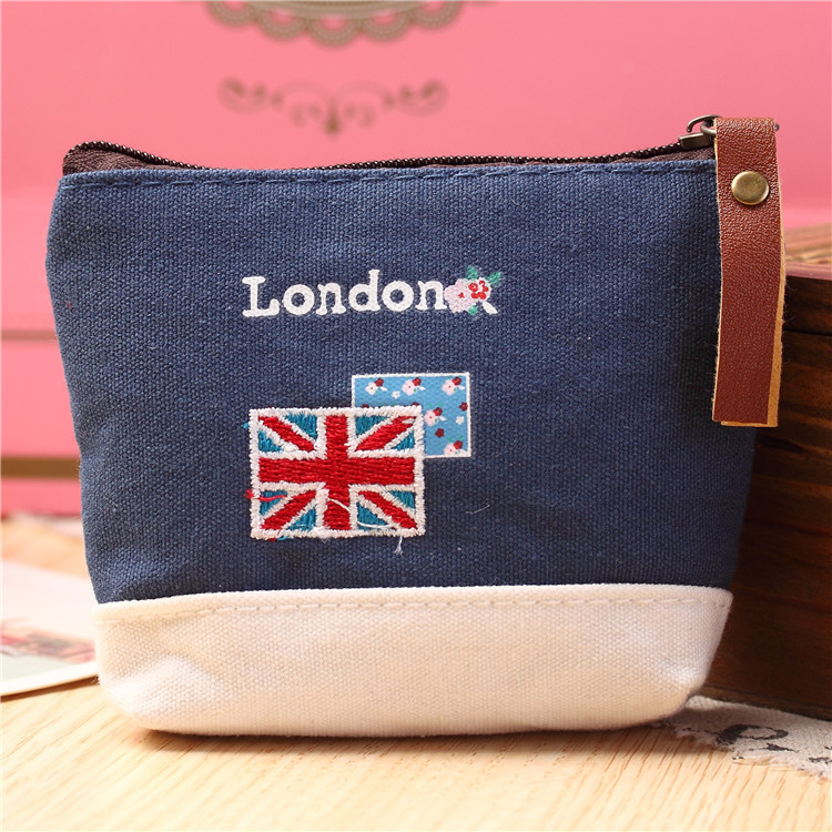 2017 Fashion Mini Cute Kids boy Coin Purse Canvas Key Bag Zipper Children Wallet Pouch Cartoon  London Bus England Flag Soldier korean ladies transparent cartoon coin purse girls zipper coin wallet children cute animal mini key card pouch bag for kids