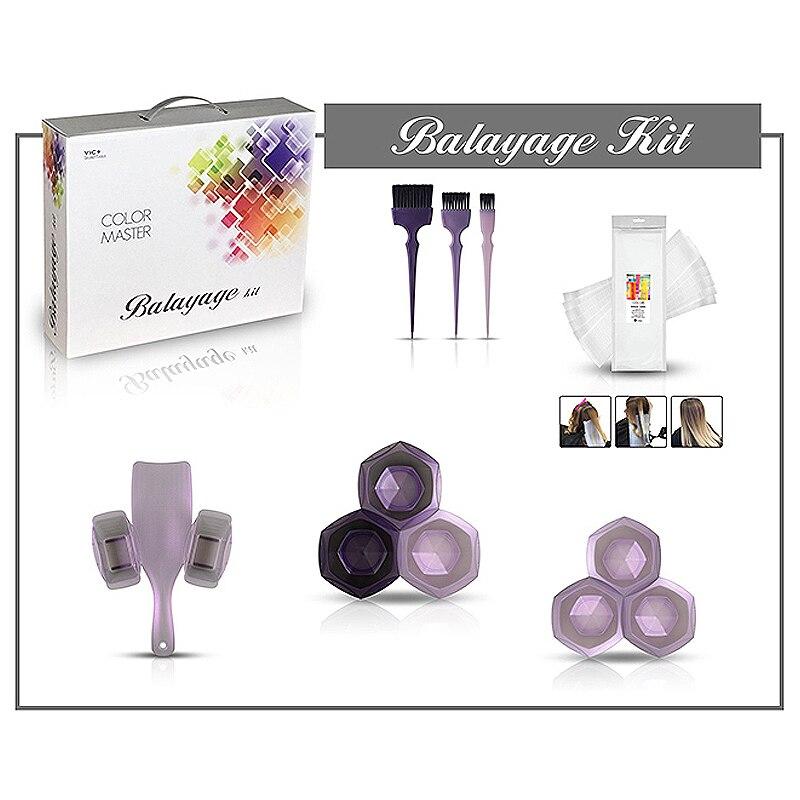 Профессиональные инструменты для окраски волос, набор для окрашивания волос, бумажные кисти, миска, набор тарелок, парикмахерские инструме... - 6