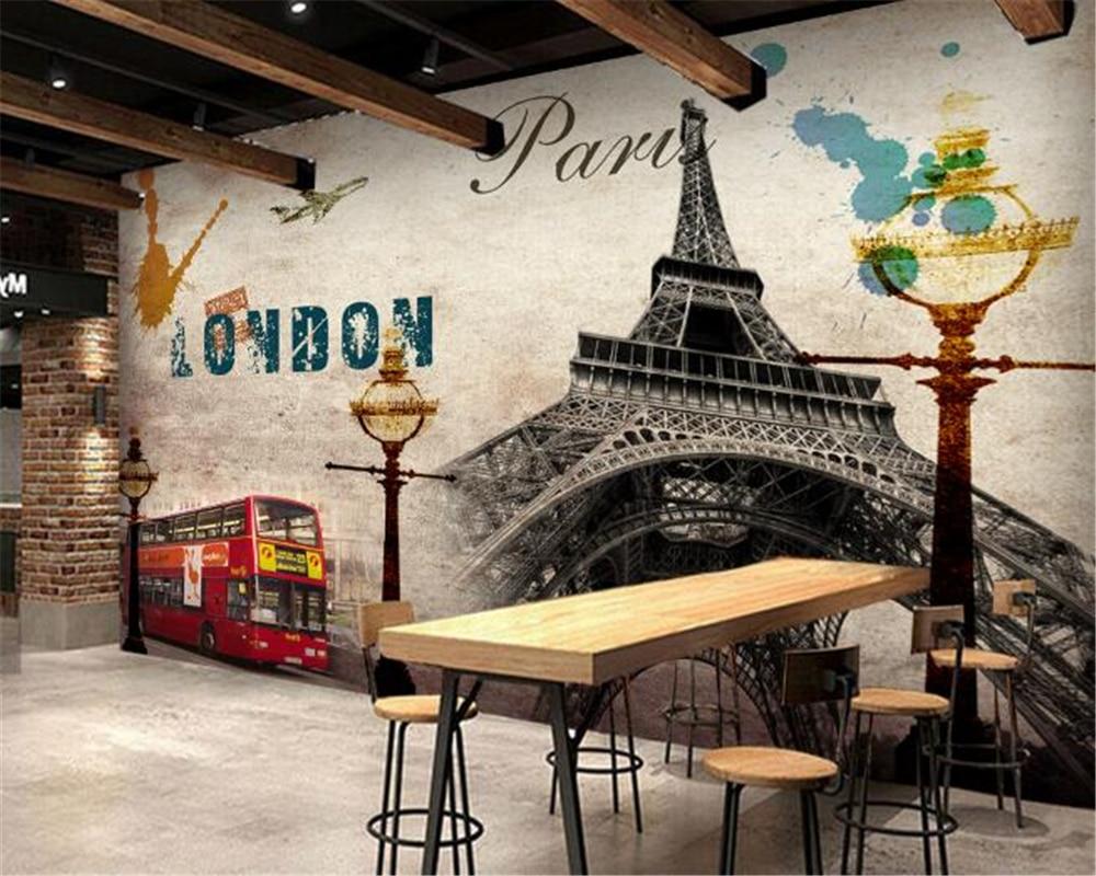 online get cheap paris style wallpaper aliexpress com alibaba group