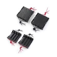 MasterFire 400pcs/lot New Battery Storage Case Cover Plastic Box Holder For 4 x 18650 3.7V Batteries With Wire Leads