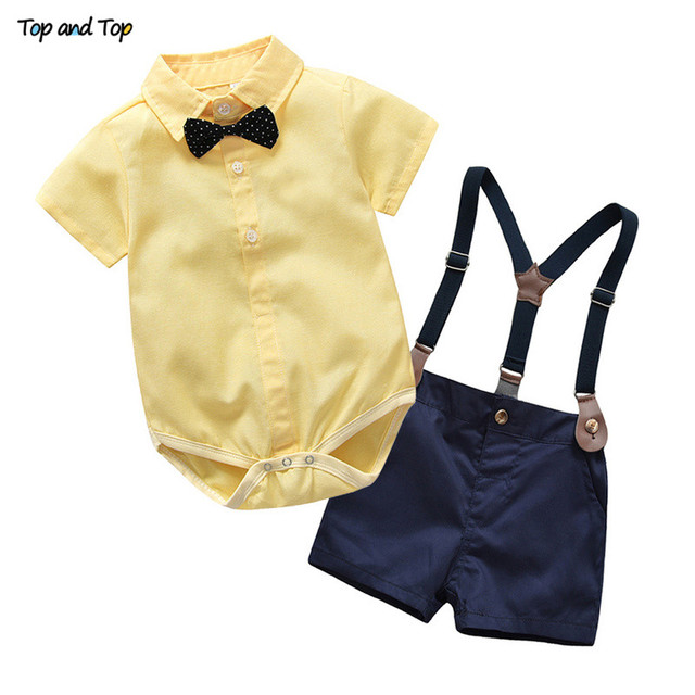 ca9915e141f5 Top and Top Toddler Boys Clothing Set Gentleman Suit Kids Short ...