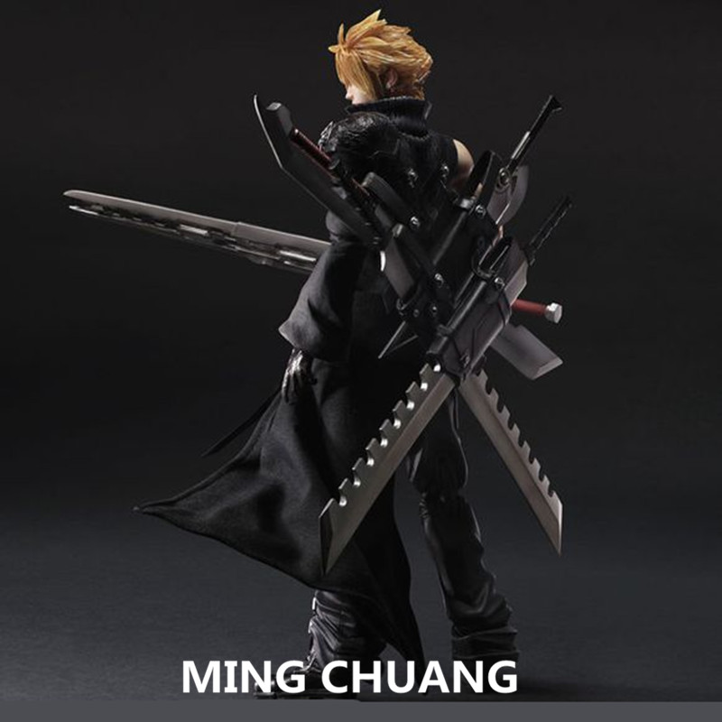 Final Fantasy VII:Advent Children PLAY ARTS Cloud Strife PVC Action Figure Collectible Model Toy with retail box 25CM Q56