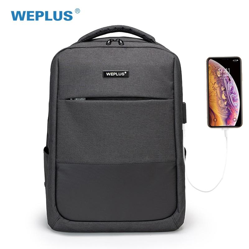 WEPLUS Rucksack 15,6 zoll Laptop Rucksack USB Lade Casual Stil Wasserdichte Tasche Männer Frauen Anti Dieb Multifunktions Rucksack