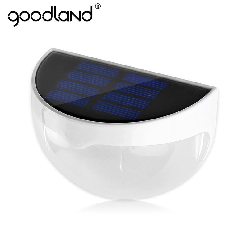 Goodland lumière solaire LED étanche 6 LEDs lampe solaire capteur de lumière de jardin Auto ON pour la décoration de la maison chemin clôture applique murale