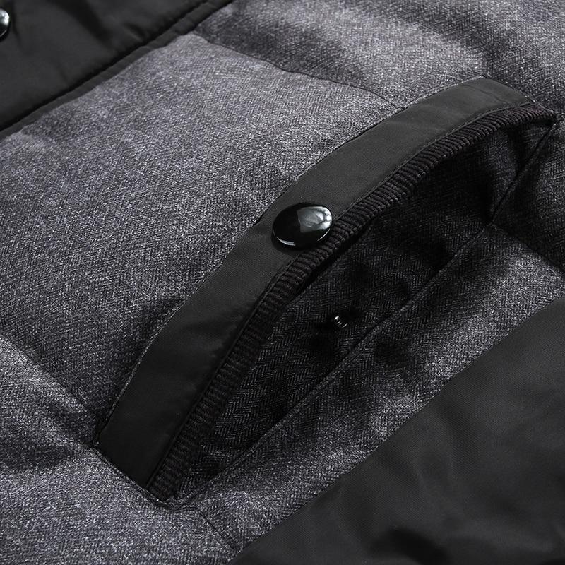 Winterjas Heren zwarte puffer jas warme mannelijke jas parka uitloper - Herenkleding - Foto 5