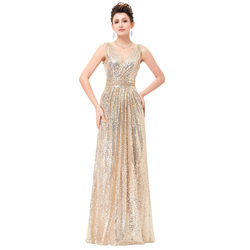 Luxury gold silver long sequin evening dress pink double v neck cheap evening gowns sleeveless prom.jpg 250x250