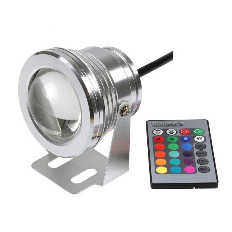DC12V 10W RGB LED Underwater Light IP68 Waterproof Aquarium Swimming Pool Light LED Spotlight Aluminum for Fish Tank Piscina