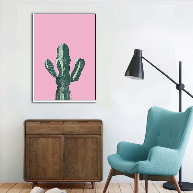Canvas Painting Wall Art Colorful Tropical Cactus Poster Nordic Posters Prints
