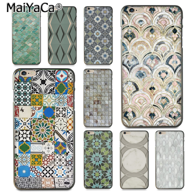 MaiYaCa Morocco Art Deco Gạch Bản Đồ Kim Cương cân mềm Phone Case cho iPhone 8 7 6 6 S Cộng Với X 10 5 5 S SE 5C Coque Vỏ