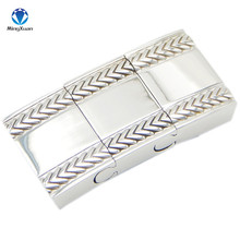 1pcs Stainless Steel Silver Plated 18*4MM Magnetic Clasps Jewelry Findings fit Leather Cord Men Bracelet Making Diy