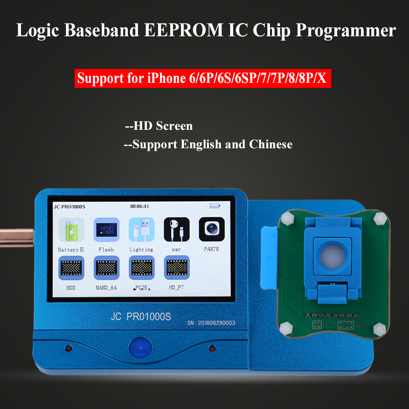 JC Pro1000S Multi Functional Baseband Logic EEPROM IC Chip Read Write Tool for iPhone 6 6P 6S 6SP 7 7P 8 8P X Phone Repai Tools-in Hand Tool Sets from Tools    1
