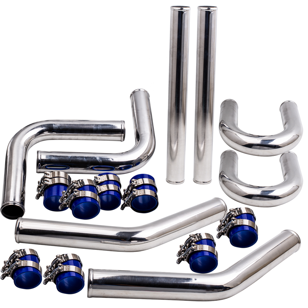 2.5 63mm Aluminum Alloy Universal Intercooler Turbo Piping Pipe Kit