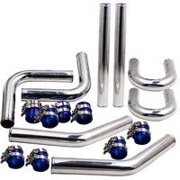 2.5 63mm Aluminum Alloy Universal Intercooler Turbo Piping Pipe Kit