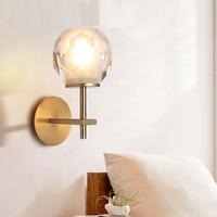 Modern Copper Wall Lamps Villa Hotel Crystal Wall Light Study Bedroom led Wall Lamp Modern led Lamp Bathroom Crystal Wall Light